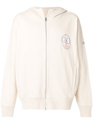 Vivienne Westwood Full Zip Hoodie With Embroidery Cotton M Nude Neutrals