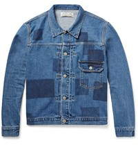 Remi Relief Patchwork Effect Denim Jacket Blue