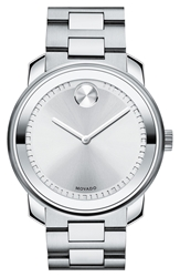 Movado 'Bold' Bracelet Watch 43Mm Silver