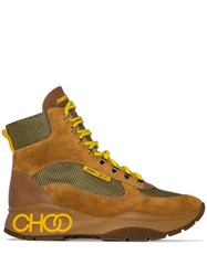 Jimmy Choo Inca Hiking Boots Yellow