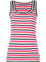 Marc Cain Striped Tank Top Pink And Purple