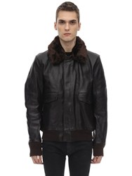 Schott 174 Leather Jacket Brown