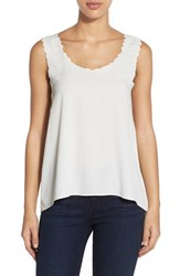 Women's Cece By Cynthia Steffe Embroidered Trim Tank
