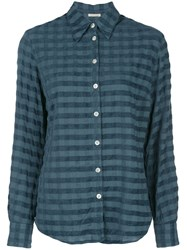Massimo Alba Checked Print Shirt Blue