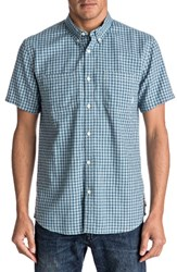 Quiksilver Men's Forte Night Check Shirt Indian Teal