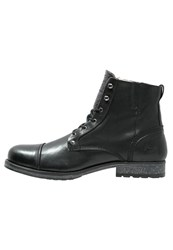 Mustang Laceup Boots Schwarz Black