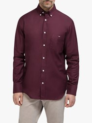 Eden Park Cotton Regular Fit Shirt Burgundy