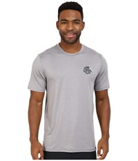 Rip Curl Aggrolite Surf Shirt Short Sleeve Grey Men's Swimwear Gray