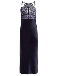Stella Mccartney Lingerie Ophelia Silk Blend Nightgown Navy