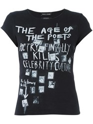 Each X Other 'The Age' Print T Shirt Black
