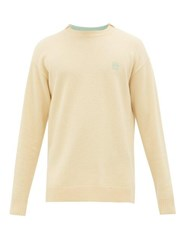 Loewe Anagram Embroidered Wool Sweater Light Yellow