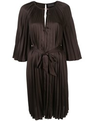 Ginger And Smart Depth Pleat Dress Brown