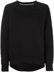 Nike 'Rally' Quilted Sweatshirt Black