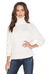 Michael Stars Long Sleeve Turtleneck Sweater Ivory