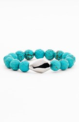 Women's Simon Sebbag Stretch Bracelet Silver Oval Turquoise Nordstrom Exclusive