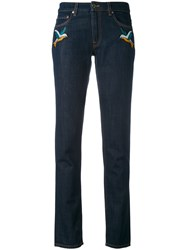 Victoria Beckham Okinawa Cropped Jeans Women Cotton Polyester Lyocell 27 Blue