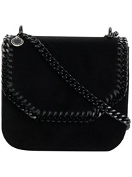 Stella Mccartney Falabella Box Bag Artificial Leather Velvet Brass Black