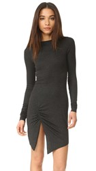 The Hours Long Sleeve Slit Dress Charcoal