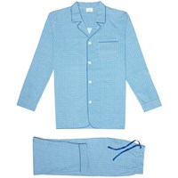 Kloters Milano Blue Tile Pyjamas White Blue
