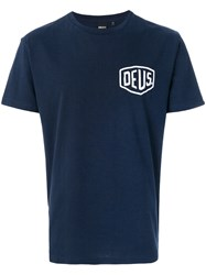 Deus Ex Machina Logo Print T Shirt Blue