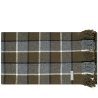 Mhl By Margaret Howell Overcheck Scarf Green