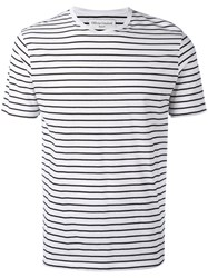 Officine Generale Stripy T Shirt White