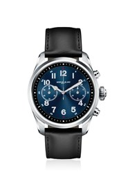 Montblanc Summit 2 Steel And Leather Smart Watch Black Blue
