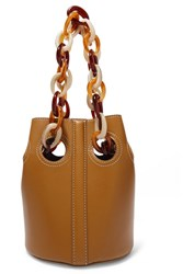 Trademark Goodall Leather Bucket Bag Brown