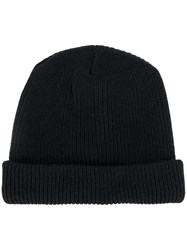 Alyx Ribbed Beanie Calf Leather Wool Metal Black