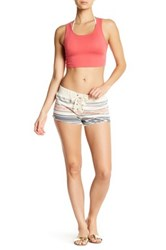 Rip Curl Southwest Lace Up Fleece Short White