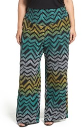 Melissa Mccarthy Seven7 Plus Size Women's Print Pull On Pants African Chevron