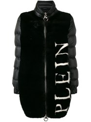 Philipp Plein Logo Padded Coat Black