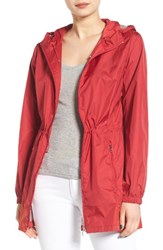 Calvin Klein Women's Packable Rain Jacket Classic Red