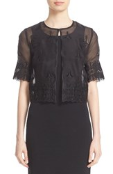 St. John Women's Collection Embroidered Silk Organza Jacket