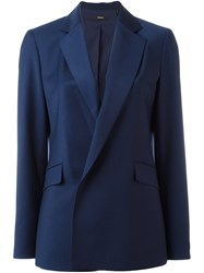 Theory Double Breasted Blazer Blue