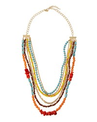Emily And Ashley Greenbeads By Emily And Ashley Multicolored Multi Strand Beaded Necklace Women's