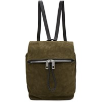 Rag And Bone Green Suede Loner Backpack