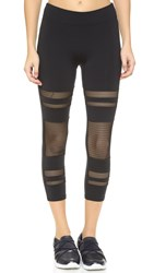 Solow Shadow Stripe Leggings Black