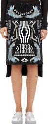 Marcelo Burlon County Of Milan Fleece Milano 1998 Skirt Black