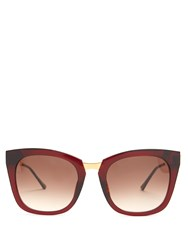 Thierry Lasry Narcissy Cat Eye Sunglasses Red