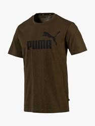 Puma Essentials Logo Training Top Khaki
