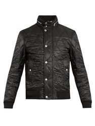 Burberry Diamond Quilted Padded Jacket Black