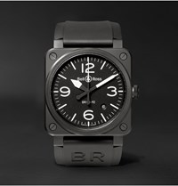 Bell And Ross Br 03 92 42Mm Ceramic Rubber Watch Black