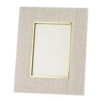 Aerin Valentina Velvet Photo Frame London Fog 4X6 Neutral