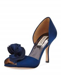 Badgley Mischka Thora Satin Rosette D'orsay Pump Navy