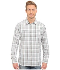 The North Face Long Sleeve Traverse Plaid Shirt Spruce Green Plaid Prior Season Long Sleeve Button Up White