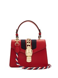 Gucci Sylvie Mini Leather Shoulder Bag Red