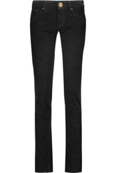 M Missoni Cotton Blend Corduroy Skinny Pants Black