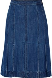 Michael Kors Collection Denim Skirt Mid Denim