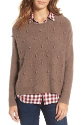 Madewell Women's Bobble Pullover Sweater Heather Root